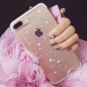 Glitter Star Design Sof Back Case Cover IPhone 8 +
